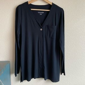 Soft Surroundings Black Miramar Top size medium